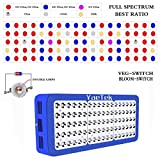 YaeTek 450W Reflector LED Grow Light Full Spectrum for Greenhouse and Indoor Plant Flowering Growing (Reflector 450W(Blue Box))