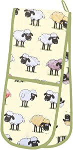 Sheepish (Sheep) Double Ovenglove by McCaw Allan