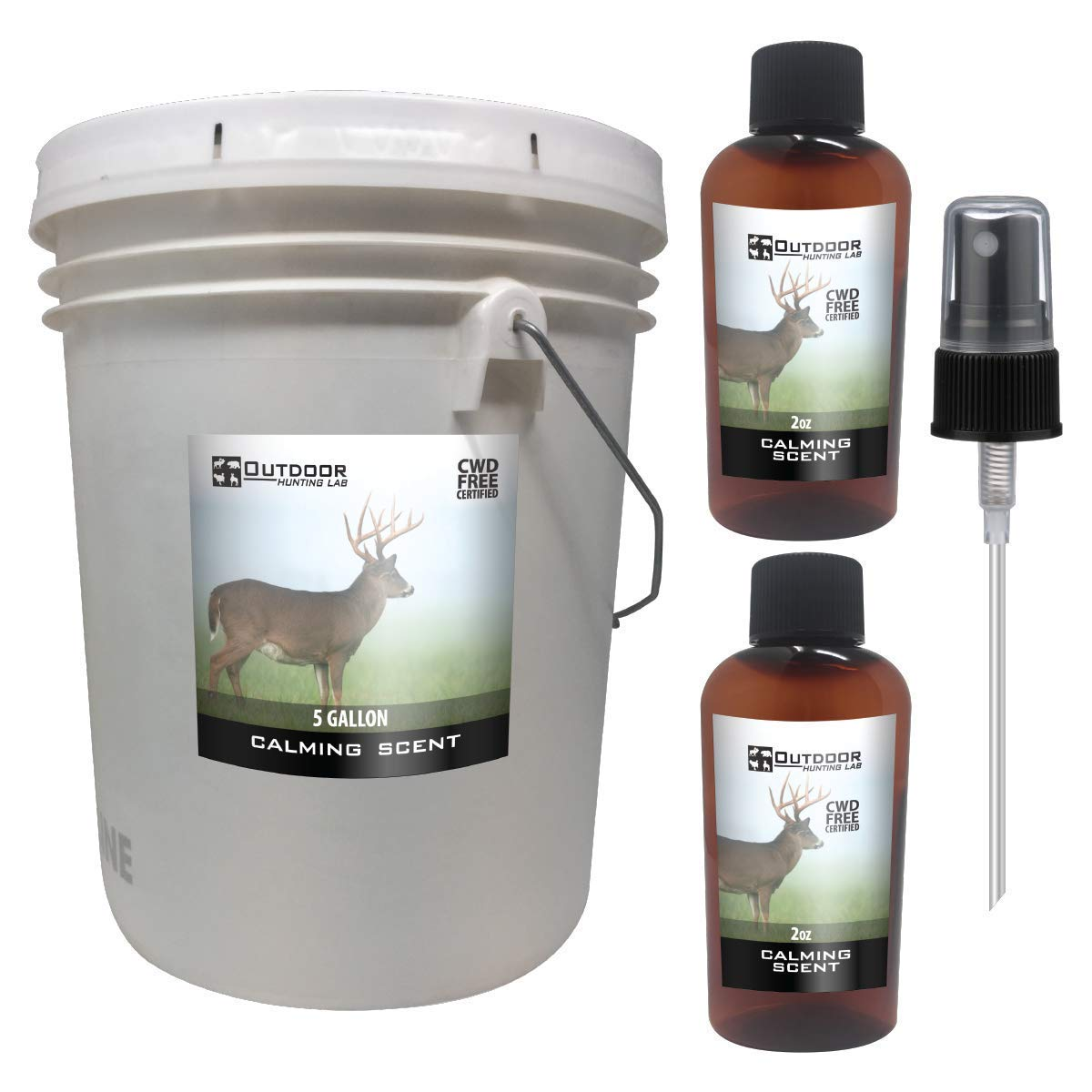 Outdoor Hunting Lab Calming Scent Ever Calm Deer Attractant Buck Lure Whitetail Hunting Cover Urine Pee Spray(5 Gallon) by Outdoor Hunting Lab