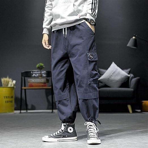 2019 Otoño Nuevo Harajuku Pantalones de chándal Hombres Tallas ...