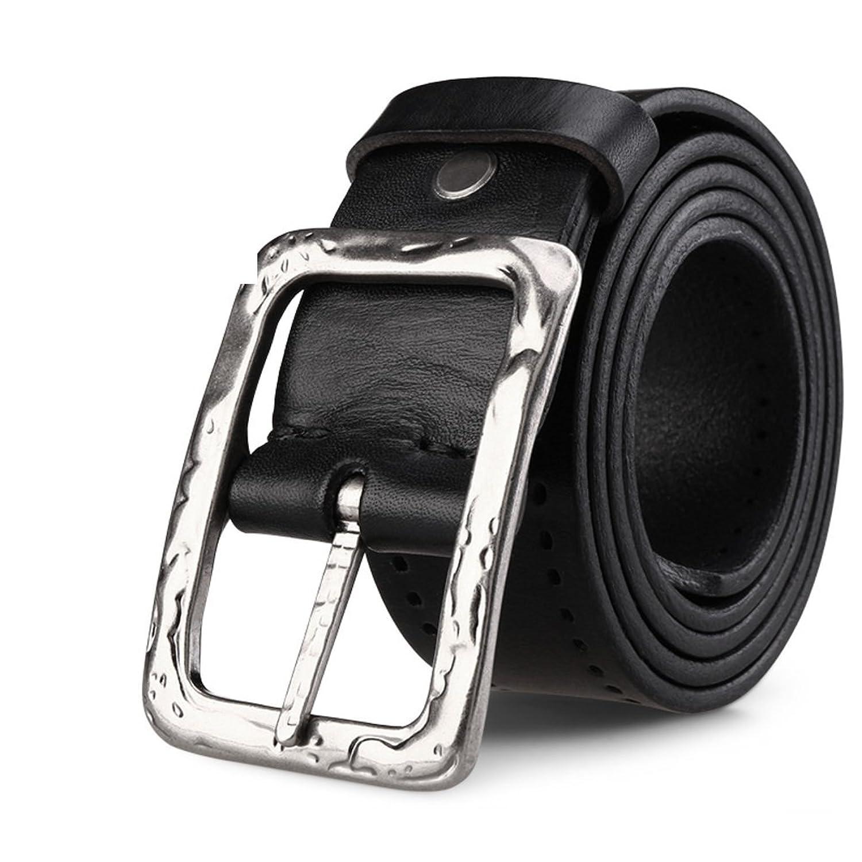 Hombres Cinturón Cinturón De Aguja Hueco Retro Hebilla Banda Juvenil De ... f8e444fc6bb7