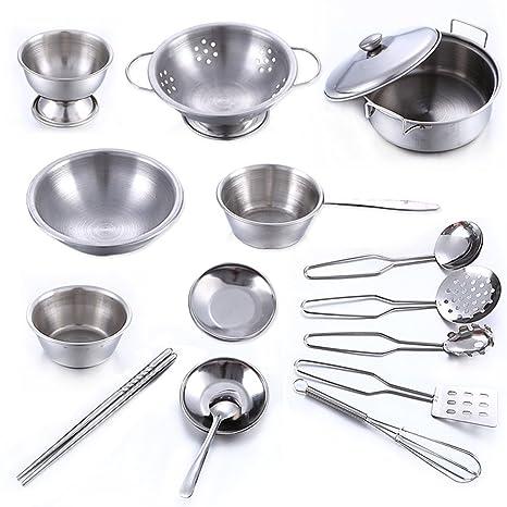 Buy Novobey 16 Pcs Stainless Steel Children Kitchen Set Cutlery