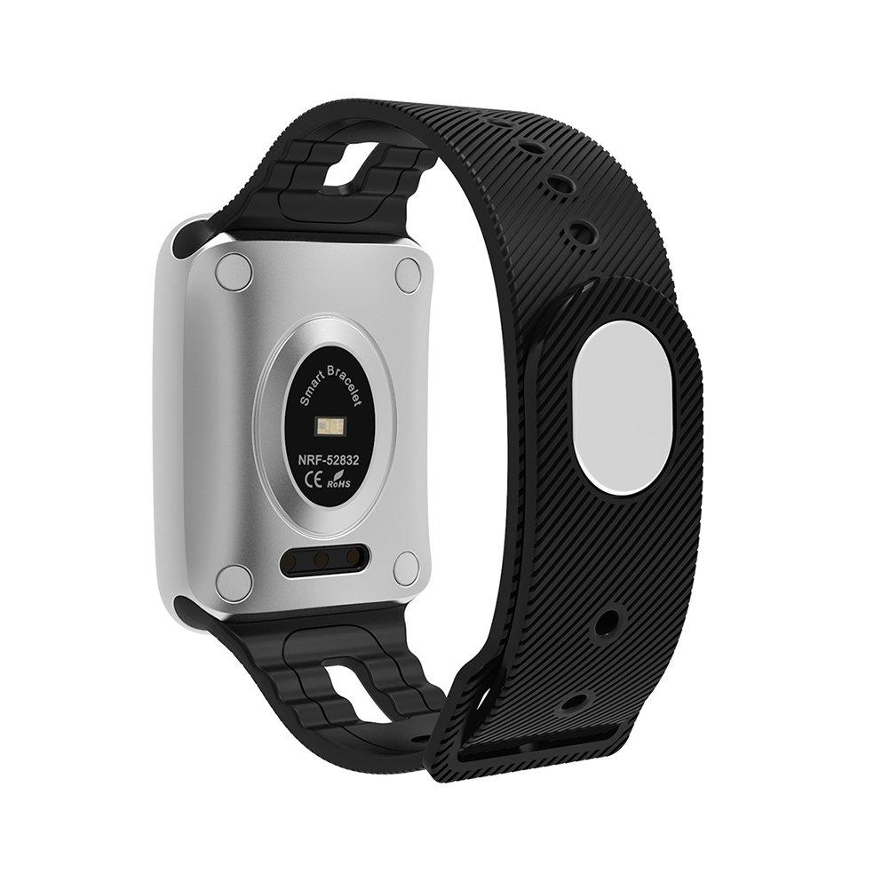 NICERIO IP68 impermeable Bluetooth 4,0 Smart Watch Pulsómetro Tensiómetro de sangre saturación de oxígeno inteligente smart reloj para iOS 8,0/Android 4.4 ...