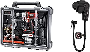 BLACK+DECKER Cordless Drill Combo Kit with Case, 6-Tool with Inflator Multi-Tool Attachment (BDCDMT1206KITC & BDCMTHPI)