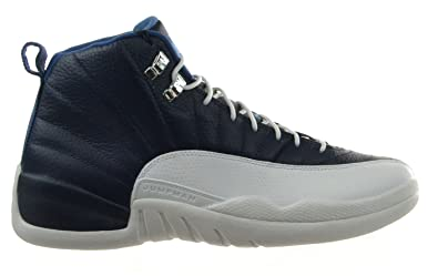 timeless design 10fce 5d78f Jordan Air 12 Retro Obsidian Men s Shoes Obsidian University Blue-White-French  Blue