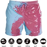 Goofly Color Changing Swimming Shorts Color Changing Swimming Trunks for Men Temperature-Sensitive Color-Changing Beach…