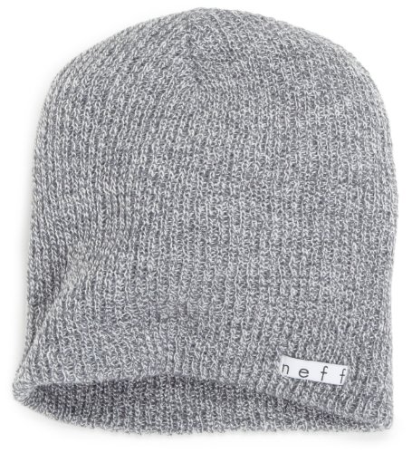 Review Neff Unisex Daily Beanie, Warm, Slouchy, Soft Headwear, Grey, One Size
