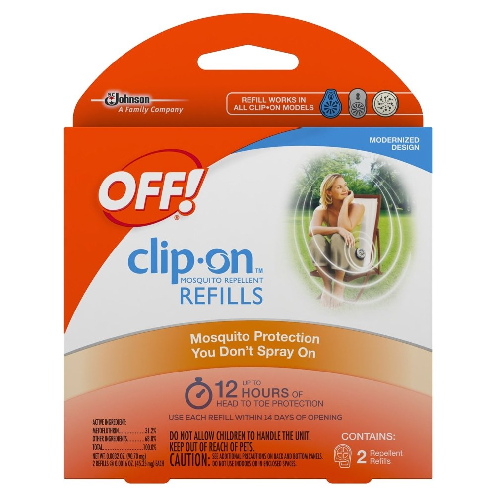Off! Clip On Insect Repellant Refill, 4 Packs of 2 (8 Total)