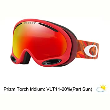 daa9e54c5acf Oakley A-FRAME 2.0 Facet Red Brick Prizm Snow Torch Iridium SNOW GOGGLES   Amazon.co.uk  Sports   Outdoors