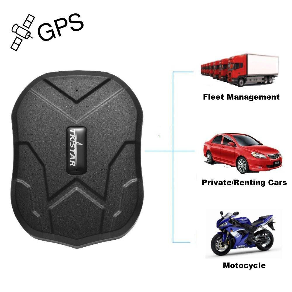 TKSTAR vehículo GPS Tracker para objetos personales con fuerte imán oculta aplicación gratuita tiempo real rastreo - negro tk905: Amazon.es: Electrónica