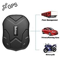 TKSTAR Magnet GPS Tracker Auto, 3 Monate lang Standby GPS Ortung, Wasserdicht Echtzeit tracking GPS Locator Professional Anti-verloren GPS Alarm Tracker für auto lkw moto gefrier boot TK905