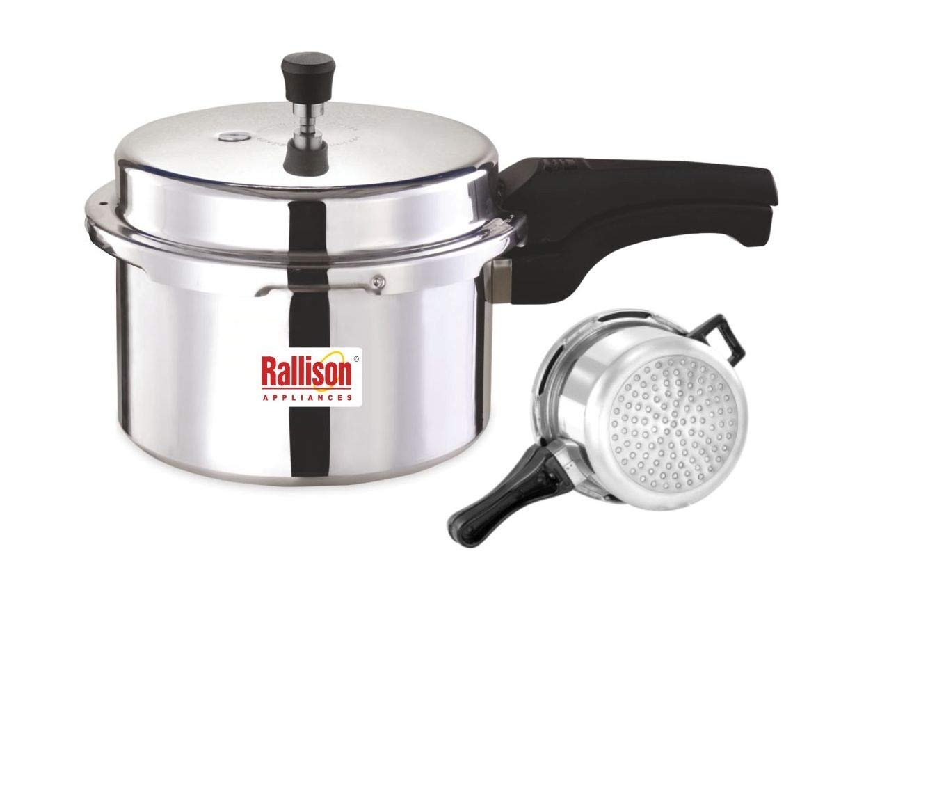 Buy Rallison Appliances Grand Pressure Induction Base Cooker 3 Ltr Aluminium Silver Online At Low Prices In India Amazon In