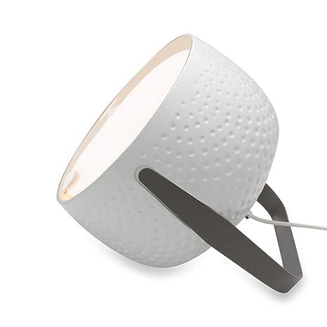 Lámpara de mesa de cerámica blanca hecha a mano en Italia ...