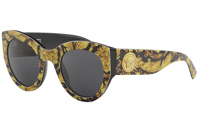 Versace 0VE4353 Gafas de sol, Baroque Yellow/Black, 51 para ...