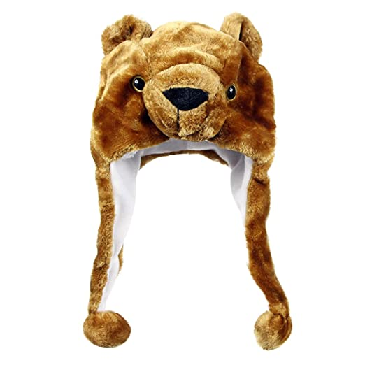 7939ad473c3 Amazon.com  NYKKOLA Plush Faux Fur Animal Critter Hat Cap