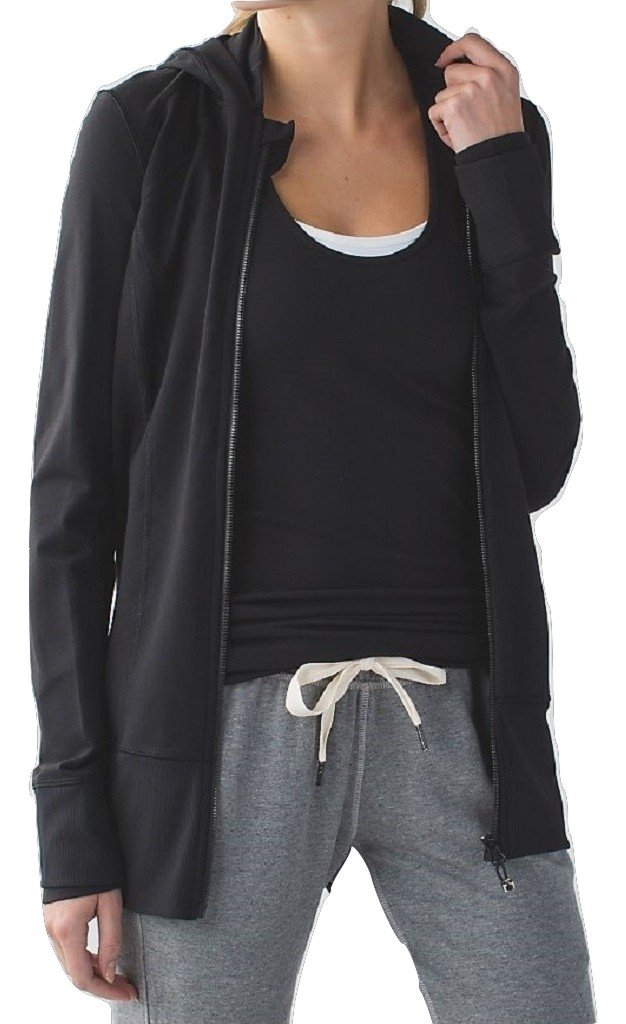 Lululemon Daily Practice Jacket Hoodie Black (10) by Lululemon