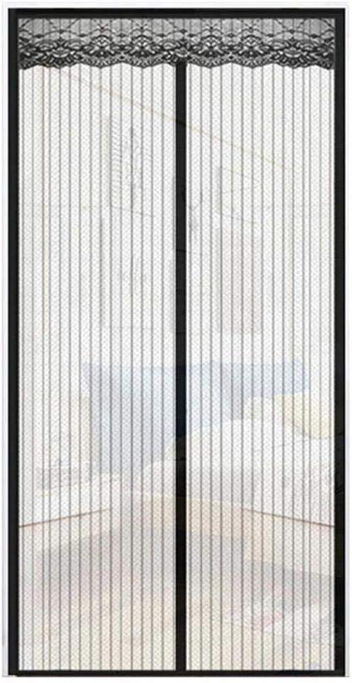 Negro JUNGEN Mosquitera Magn/ética para Puerta Protecci/ón Contra Insectos Magn/ético Corredera Cortina Mosquitera Magn/ética para Puertas Cortina de Sala de Estar Balc/ón Patio 90x200cm