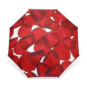 1d6ca1490856 ZOEO Rain Umbrella Windproof Flowers Petals Girls Like Red Roses ...