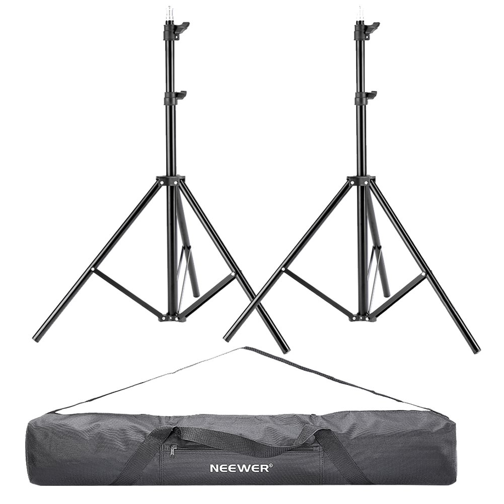 Neewer® 2 Pieces 75'/6 Feet/190CM Photography Light Stands with 36'/92cm Carrying Bag for Reflectors, Softboxes, Lights, Umbrellas, Backgrounds 90087405@@1063