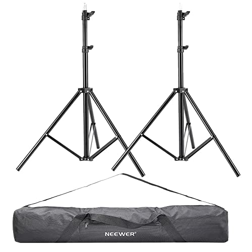 """Neewer® 2 Pieces 75""""/6 Feet/190CM Photography Light Stands with 36""""/92cm Carrying Bag for Reflectors, Softboxes, Lights, Umbrellas, Backgrounds"""