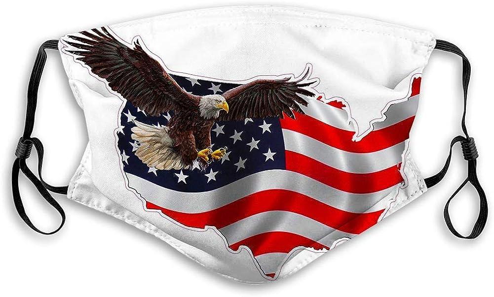 Mascarilla facial para hombres y mujeres, niños y niñas American Eagle In Version Bufanda facial