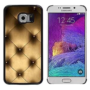 Be Good Phone Accessory // Dura Cáscara cubierta Protectora Caso Carcasa Funda de Protección para Samsung Galaxy S6 EDGE SM-G925 // Couch Wall Interior Design Platinum Bling Art