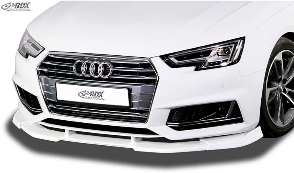 Gloss Black Front Bumper Spoiler Lip For Audi A4 B9 S4 Sedan 4-Door 17-18