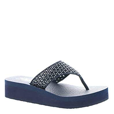 c5b365eb3b56 Skechers Cali Women s Meditation-Flow Flip-Flop Navy  Buy Online at ...