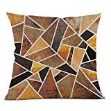 Weiliru Geometric Pillows Cases Cotton Linen Square Throw Pillow Covers 18 X 18 Inch