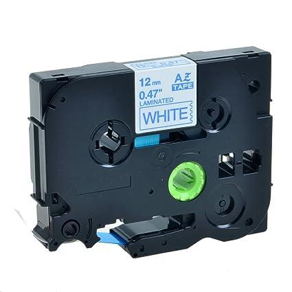 Blue on White TZ-233 Tape For Brother TZe-233 12mm PT-E550W Label Maker 1 Pack