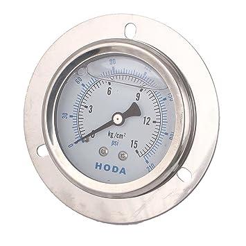 sourcingmap® 1/4 BSP Hilo Líquido Compresor de Aire Lleno Presión Manómetro Hidráulico: Amazon.es: Hogar