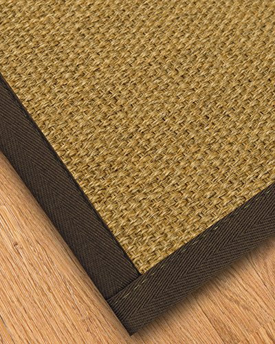[NaturalAreaRugs Trellis Natural Sisal Area Rug, Made in USA, Fudge Cotton Border, Durable, Stain Resistant, Anti-Static, Environmental/Earth-Friendly (9 Feet X 12 Feet)] (Rectangular Bamboo Area Rugs)