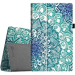 """Fintie Folio Case for All-New Amazon Fire HD 10 Tablet (7th Generation, 2017 Release) - Premium PU Leather Slim Fit Smart Stand Cover Auto Wake / Sleep for Fire HD 10.1"""" Tablet, Emerald Illusions"""