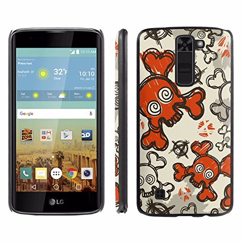Price comparison product image [ArmorXtreme] Phone Case for LG K7 Tribute 5 [Black] [Ultra Slim Cover Case] - [Cool Skull]