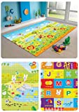 MyLine Baby Play Mat, Foam Floor Gym Rug, Non-Toxic, Non-Slip, Reversible, Waterproof, Great for Children, Toddler and Infant (Super Large, 78.7''x70.9''), Yellow