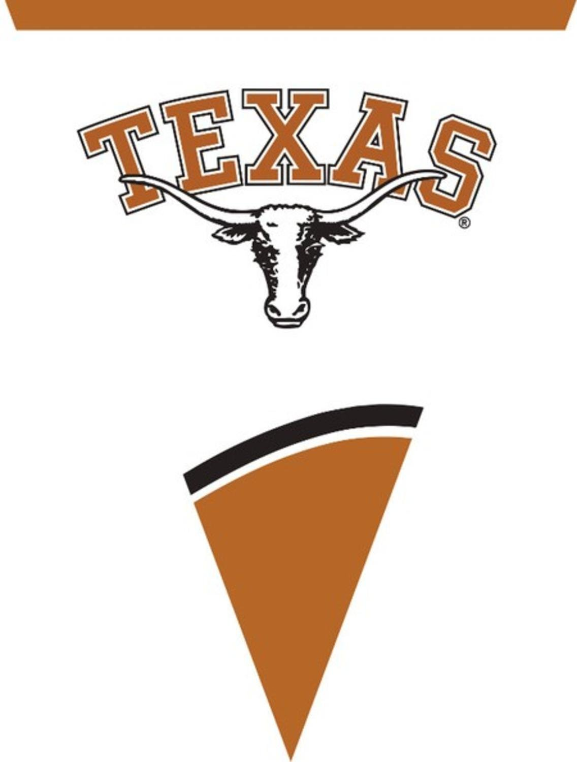 Club Pack of 12 NCAA University of Texas-Austin Plastic Flag Party Decoration Banner 8.5'
