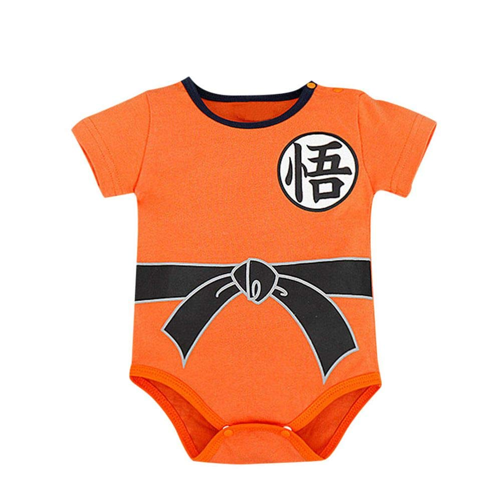 Infant Newborn Baby Boy Girl Jumpsuit Short Sleeve Romper Letter Playuit Outfits Clothes Set (Orange, 12-18 Months) by Drindf Baby Clothes (Image #1)