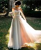 S&C Live ウェディングドレス ロング Aライン ボートネック ホワイト シンプル 軽快 アウトドアウェディングドレス 自然体ブライダル・ウエア 結婚式ドレス 二次会 披露宴 挙式#17853