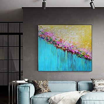 IODXAAFFCZ Pintura al óleo Pintada A Mano Flores Moderno Chino ...