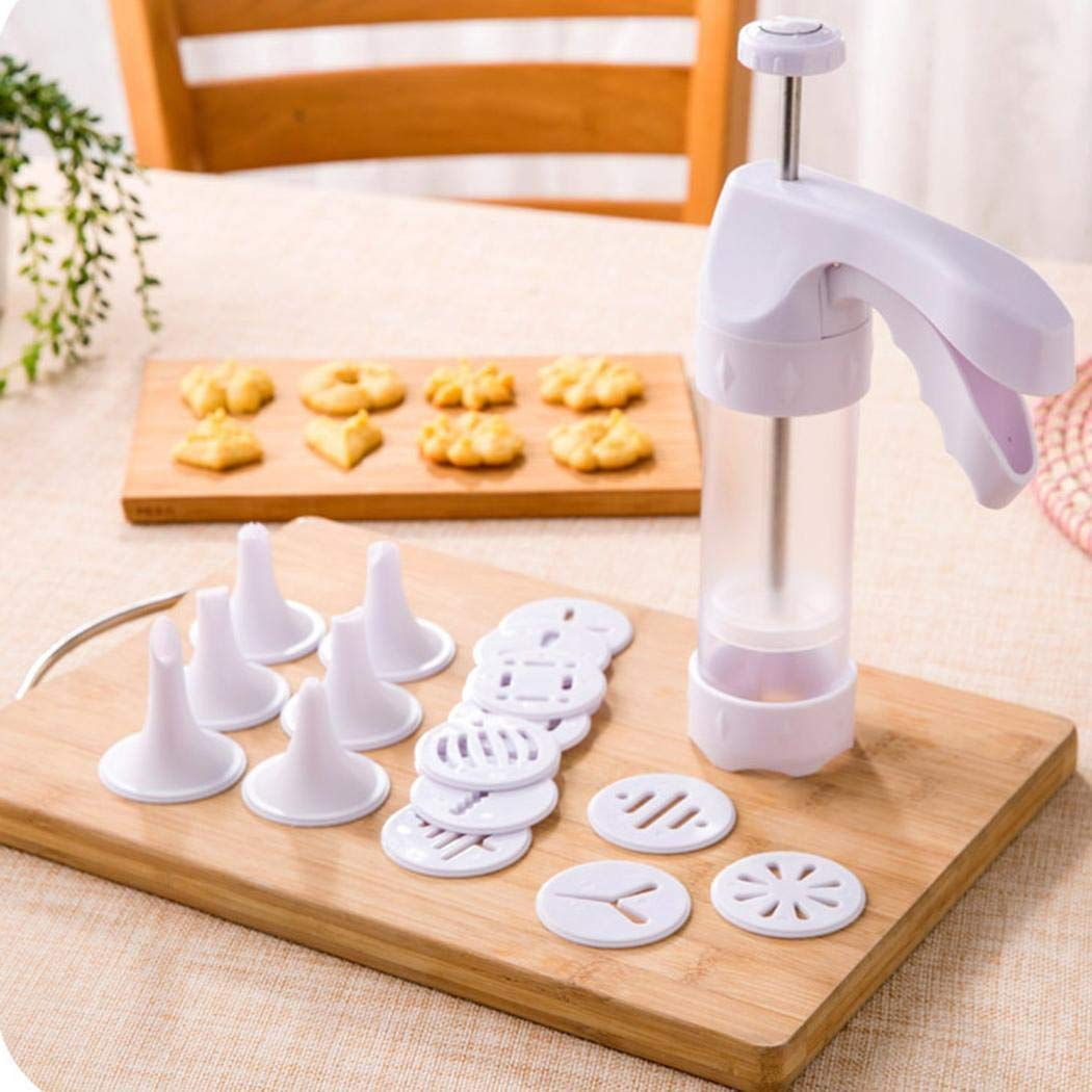 Yerflew Kitchen Clear Cookie Press Kit/Icing Decorating Gun Sets for Biscuit/Cake Decoration by yerflew (Image #1)