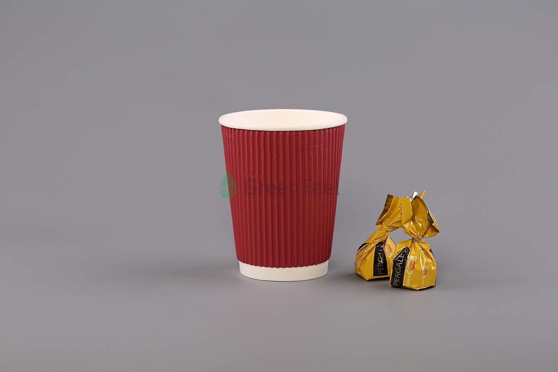 Rouge RW Straight 100/x 226,8/gram isotherme jetables papier mural Ripple Tasses /à caf/é th/é jetables Vaisselle pour les boissons chaudes pour plats froids Tasses de voyage Tasses de f/ête