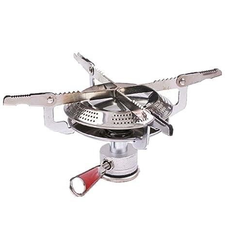 amzwings cortavientos quemador estufa Camping al aire libre Split Tipo Gas estufa al aire libre cocina