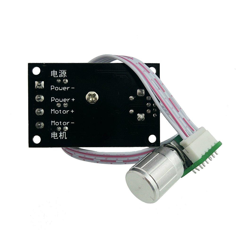 PWM uniquegoods 6V 12V 24V 28V 3A 80W DC Motor Speed Controller Speed Adjustable Reversible Switch 1203BB dc motor driver reversing