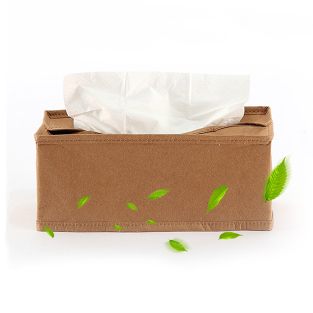 XUEXUE Imitation Kraft Paper Retro Towel Box Home Car Paper Towel Tube European Pumping Cartons
