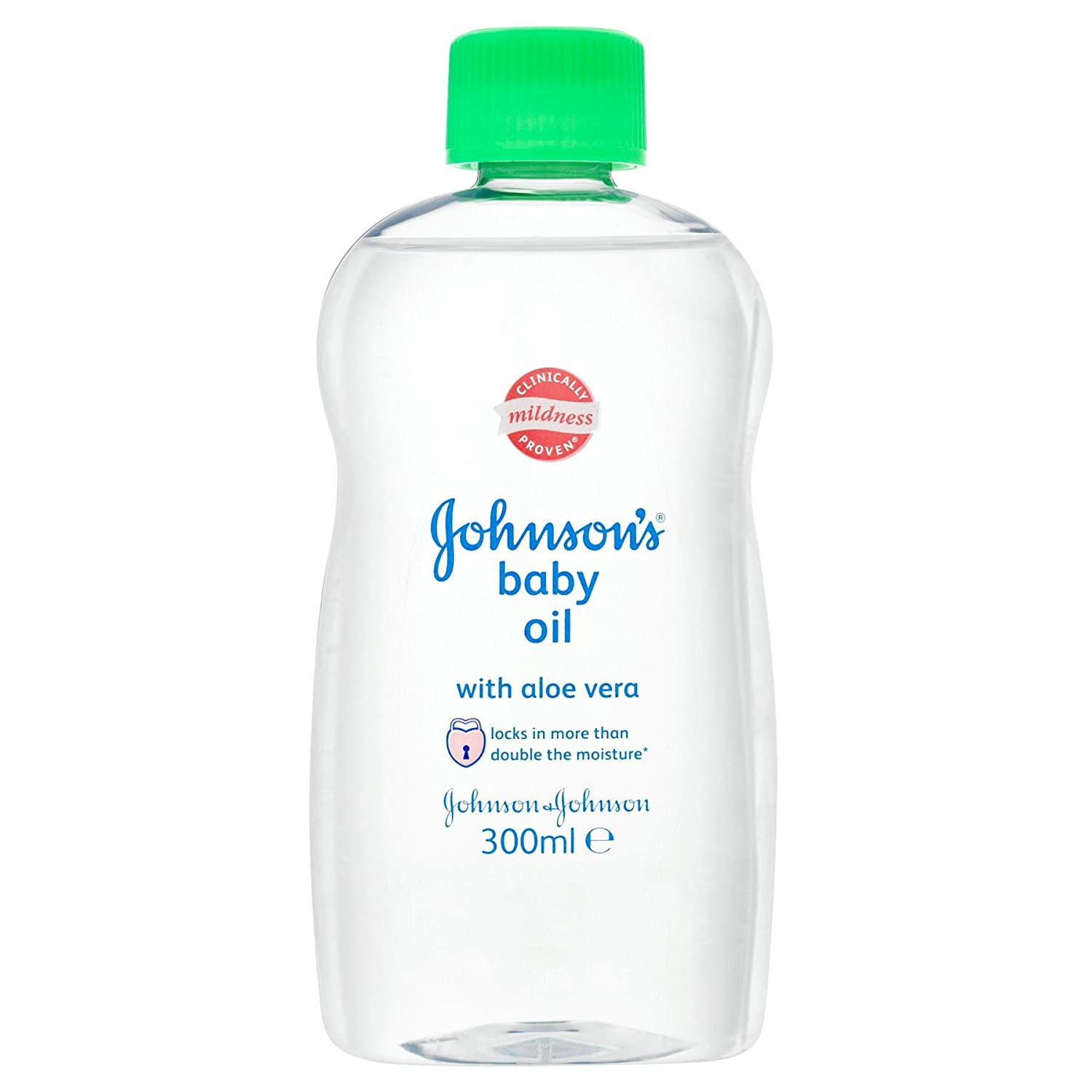 6 x Johnson's Baby Oil with Aloe Vera 300ml Johnson's