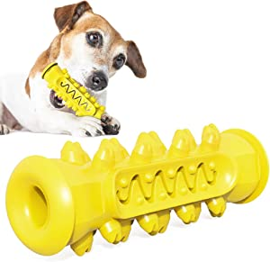 Sawpy Dog Chew Toys for Aggressive,Toothbrush Care Cleaning Squeak Toys,Puppy Pet Training Treats Teething Toys,Soft Bite Resistant Natural Rubber Chewing Toys for Dogs Pet