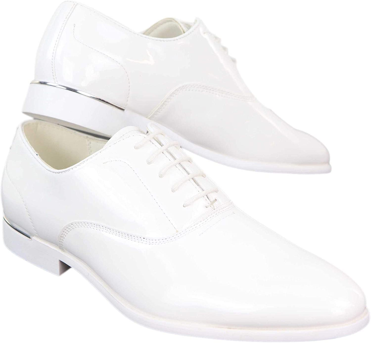 Details about  /Men/'s Shoes Classic Leather Elegant For Ceremony Made IN Italy with Laces