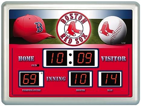 Boston Red Sox Logo marcador Digital reloj de pared