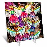 3dRose Danita Delimont - Markets - Colorful Mexican Angel Souvenirs, San Miguel de Allende, Mexico - 6x6 Desk Clock (dc_258535_1)