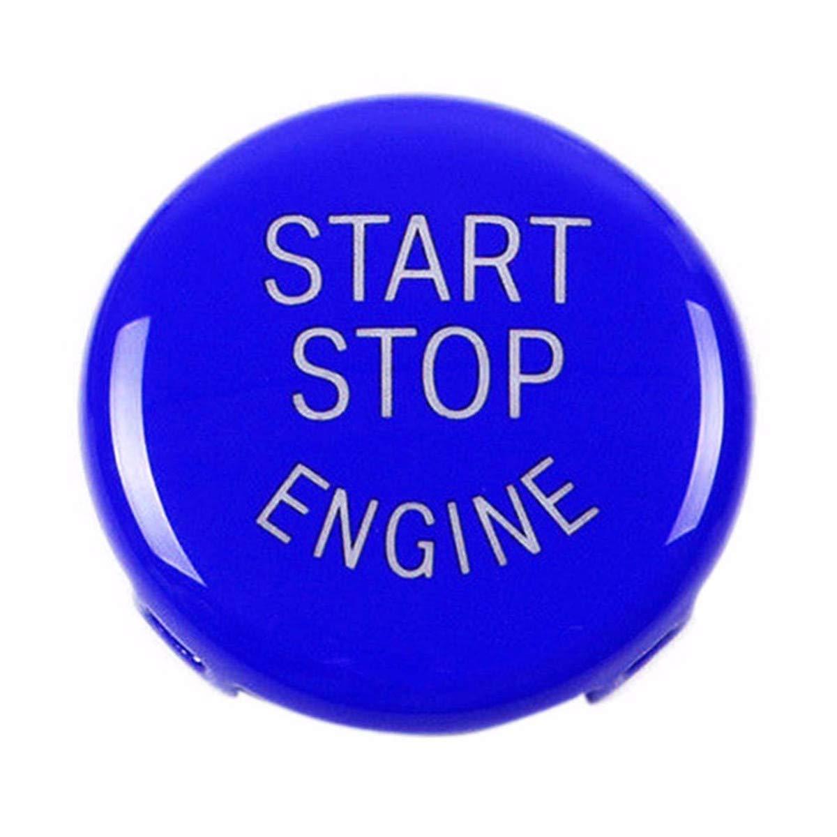 Noir ECYC Accessoires De Voiture Auto Stop Stop Moteur Cl/é Bouton De Moteur Remplacer La Couverture pour BMW X5 E70 X6 E71 3Series E90 E91
